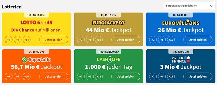 Lottohelden Spielangebot